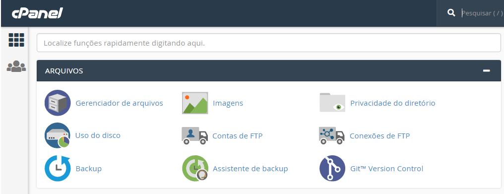 Imagem do cPanel com erro ao Estabelecer Conexão com Banco de Dados no WordPress