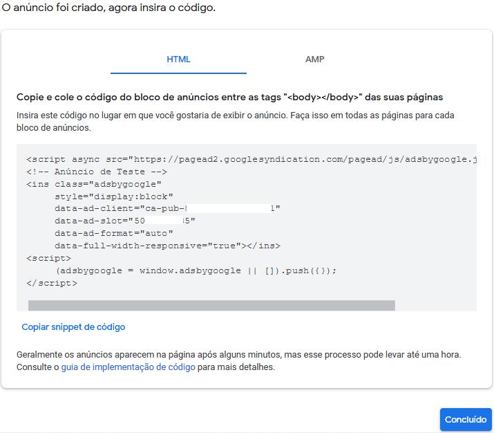 Código do Adsense para inserir no WordPress