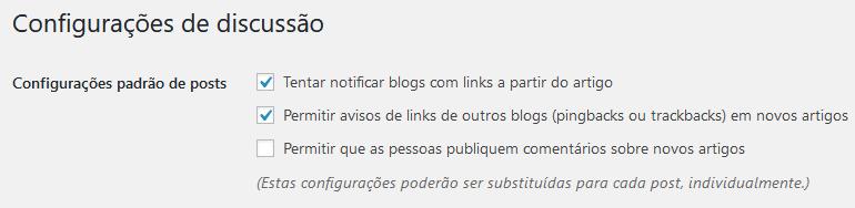 Imagem para desabilitar comentários no WordPress