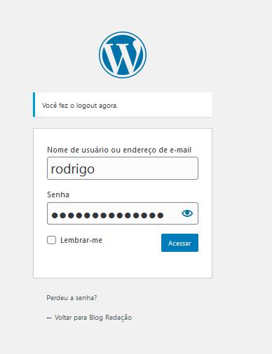 Como resetar a senha do administrador do WordPress através do Wp-Admin