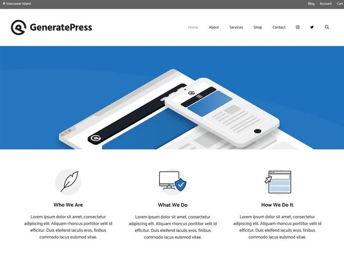Temas para Elementor: GeneratePress
