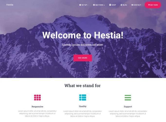 Hestia: um excelente tema para ser usado com Elementor
