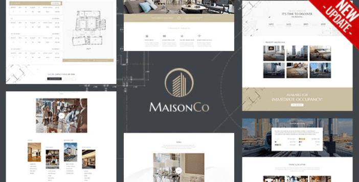 Temas para imobiliária: MaisonCo